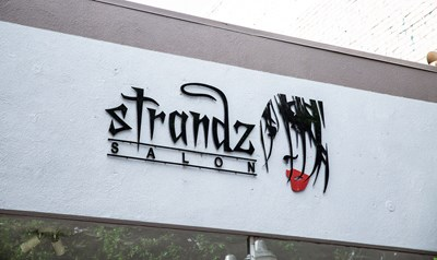 Exterior Dimensional Salon Sign made from Acrylic