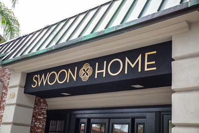 Dimensional storefront sign for home decor retail store