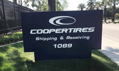 Acrylic Monument Sign for Cooper Tires