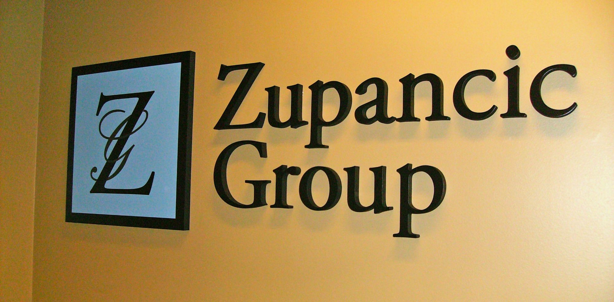 Zupancic Group Dimensional Logo Sign