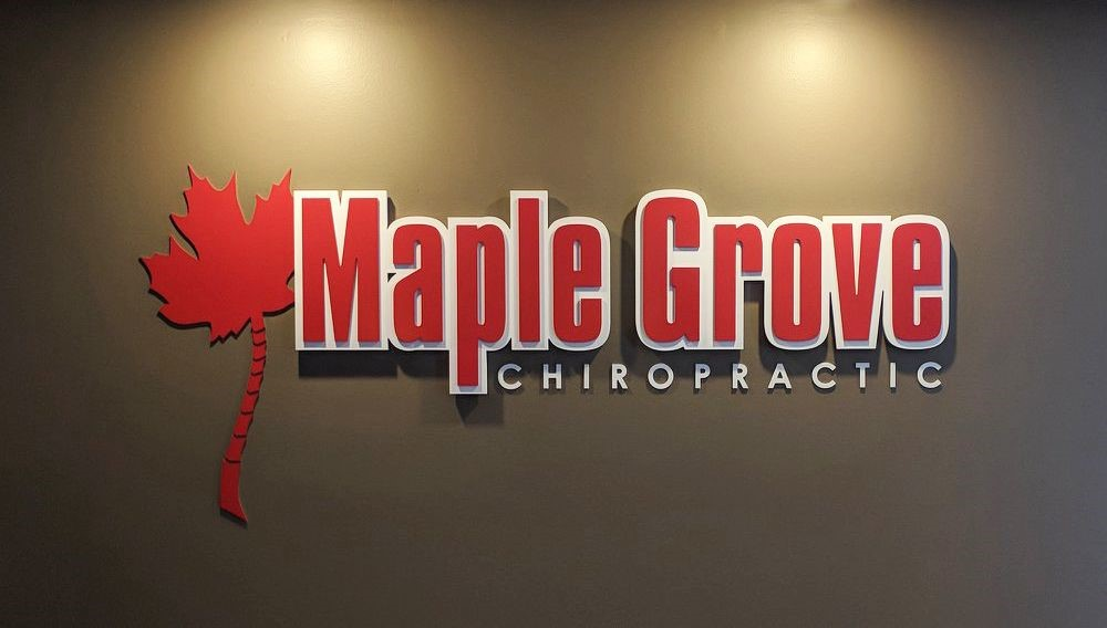 Healthcare Dimensional Logo Sign for Maple Grove Chiropractic