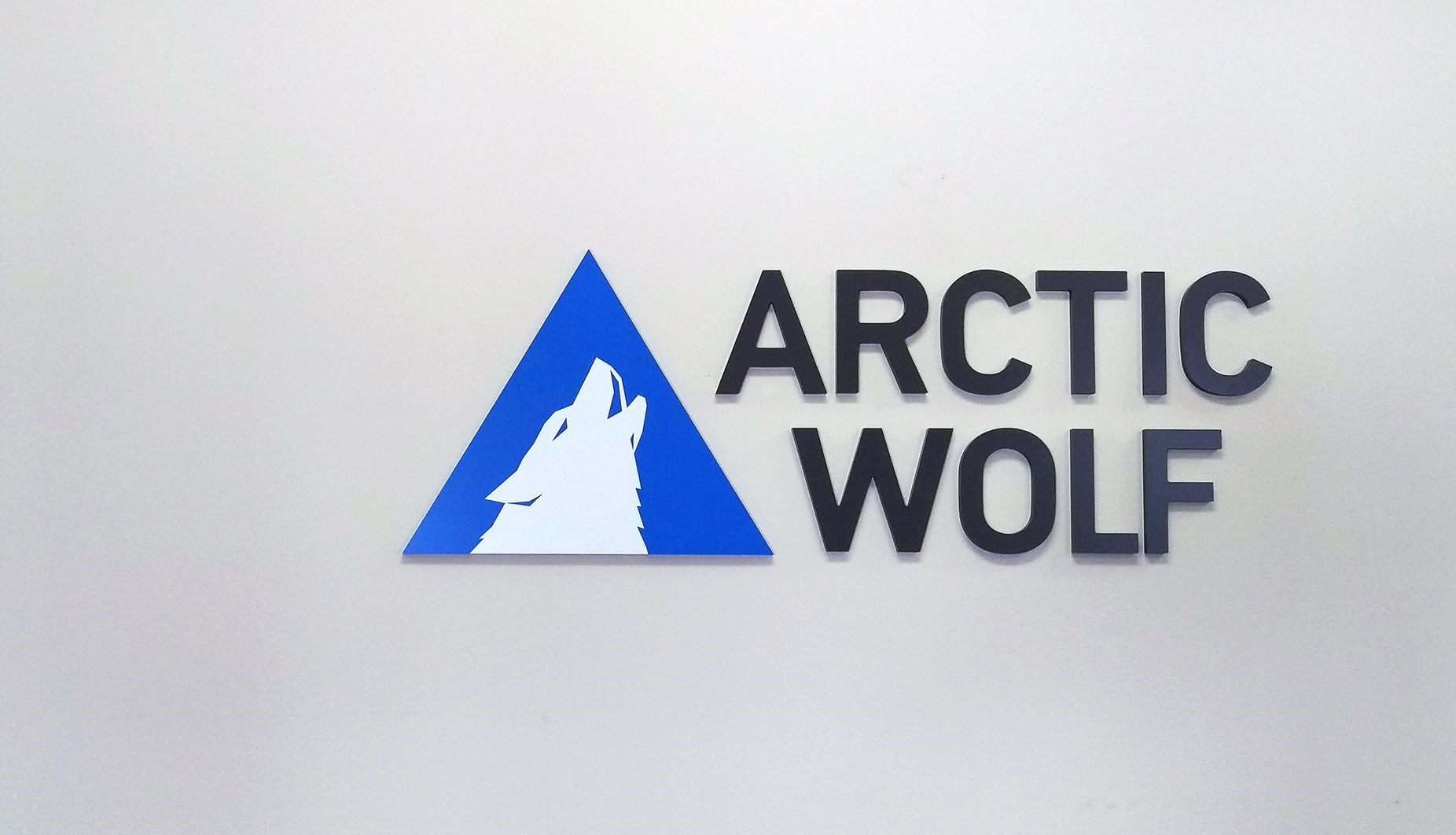 Dimensional Logo Sign for Arctic Wolf