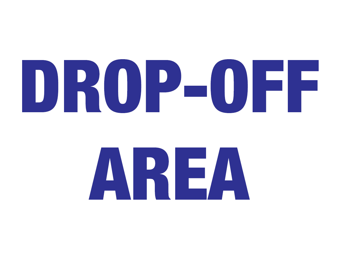 Drop-off Area Sign