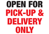 COVID-19 Open for Pick-up and Delivery Sign