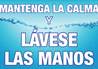 Spanish COVID-19 Sign for Keep Calm and Wash Your Hands