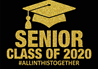 Graduation Senior Class Gold Sign