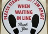 Social Distancing Floor Graphic for Waiting in Line