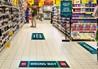 Social Distancing Floor Graphics in Retail Environment