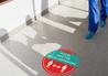 Social Distancing Graphics in Corridor