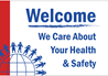 Health and Hygiene Sign for Welcome We Care About Your Health and Safety