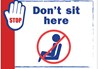 Health and Hygiene Sign for Dont Sit Here