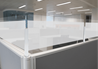 Counter Protection Screens at top of office cubicles