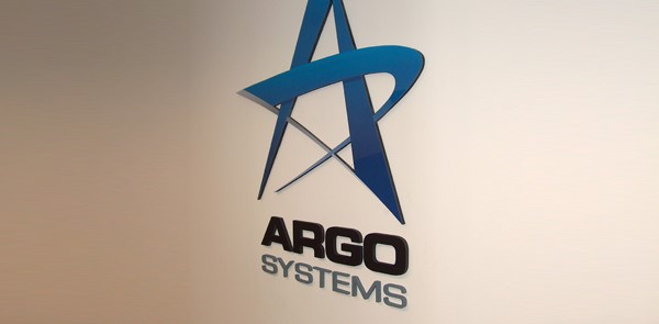 Dimensional Sign for Argo Systems with Blue Logo