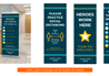 COVID-19 Banner Stands