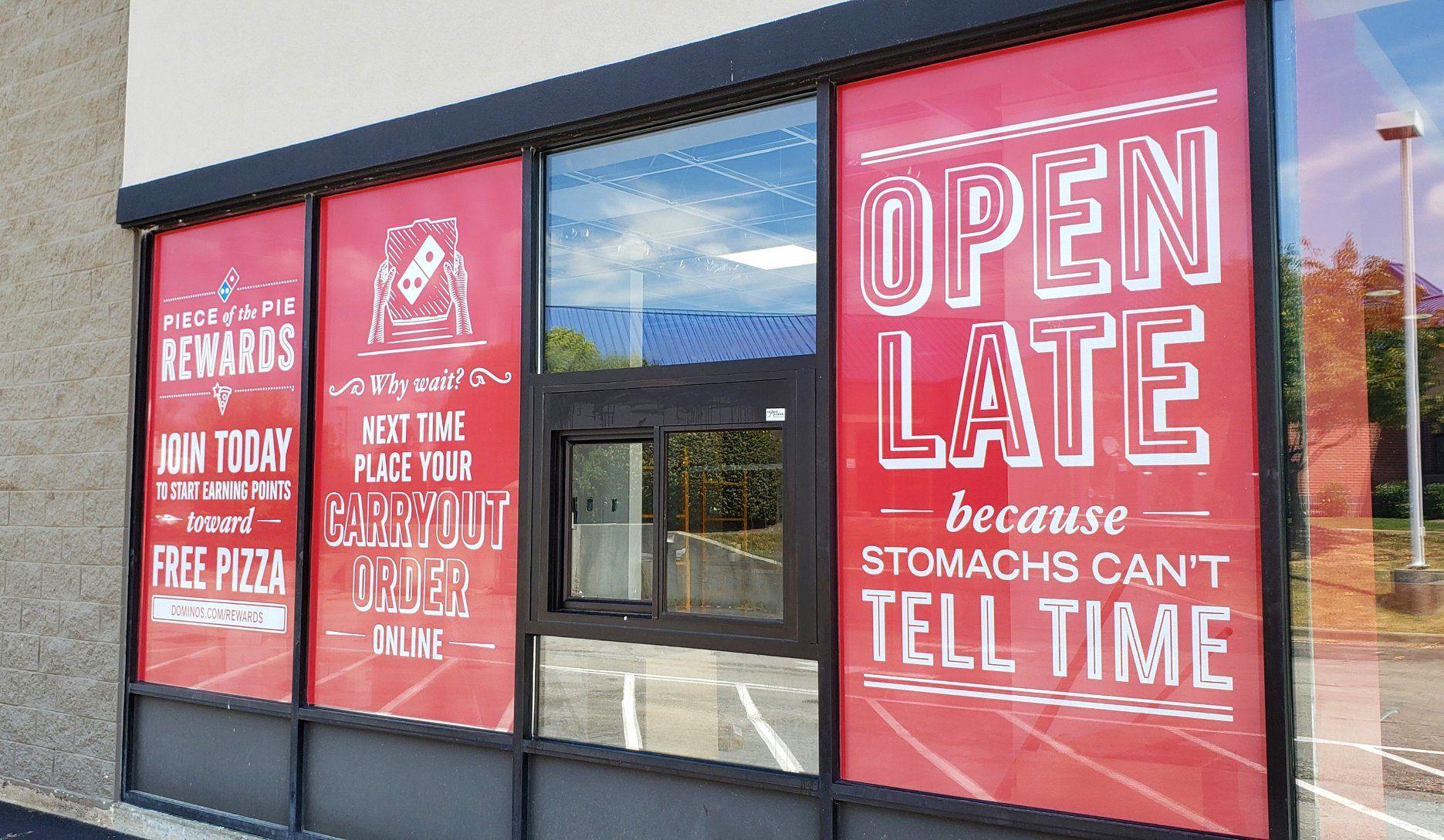 window graphics for pizza restaurant