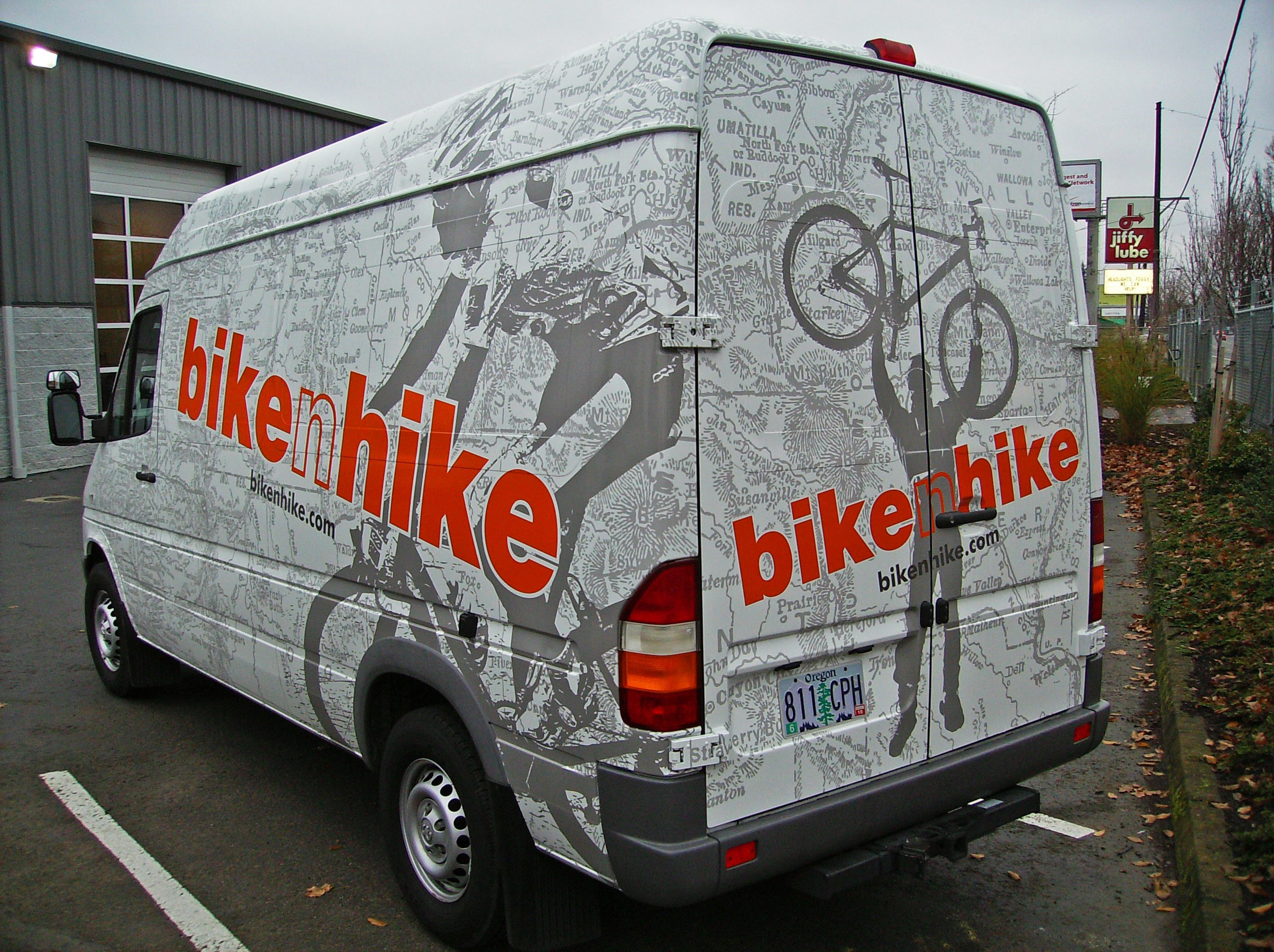 Bike n Hike Van Graphics