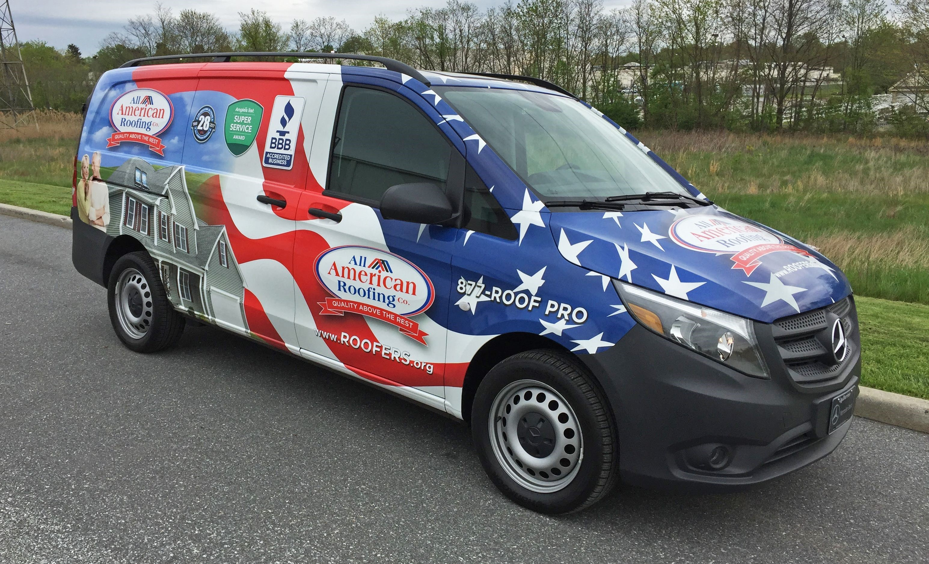 Vehicle Wrap for All American Roofers