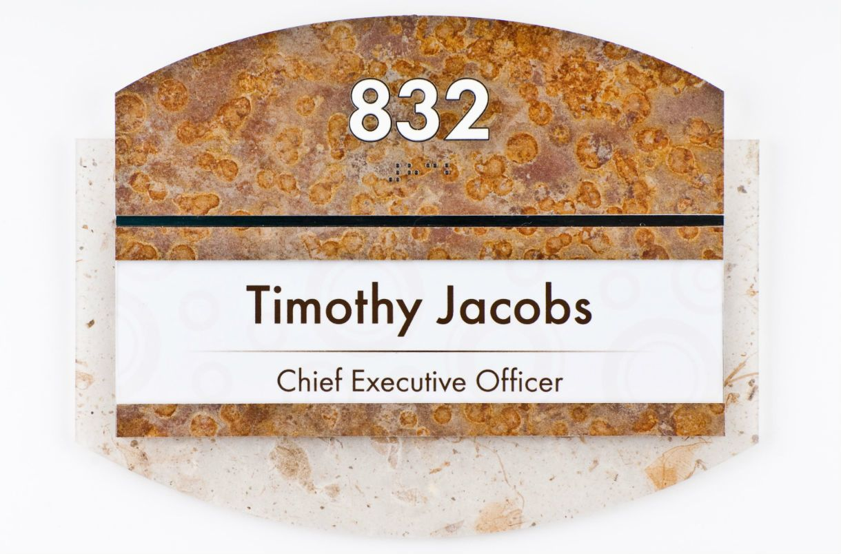 Nameplate for Chief Executive Officer