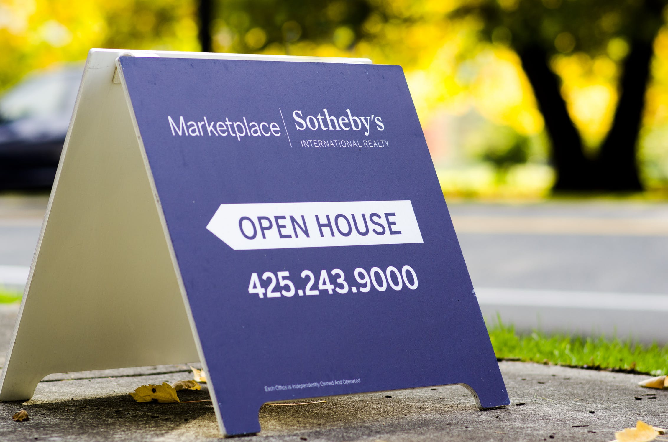 Real Estate Marketplace Open House A-Frame Sign