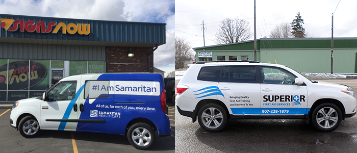 Signs Now Vehicle Graphics for Healthcare Companies