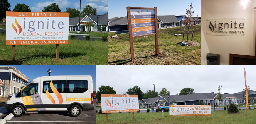 Ignite Medical Resort Signage