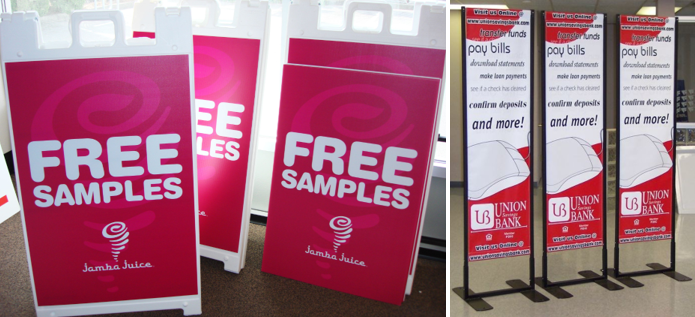 Free Samples A-Frames and Banner Stands