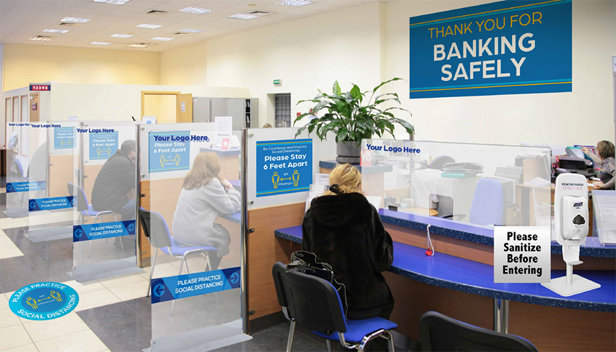 Banking Safely Signs