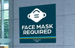 Wall Graphics For Face Mask Required