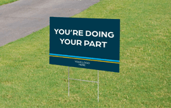 Yard Sign For Vaccination