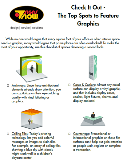 CHECKLIST: The Top Spots to Feature Graphics
