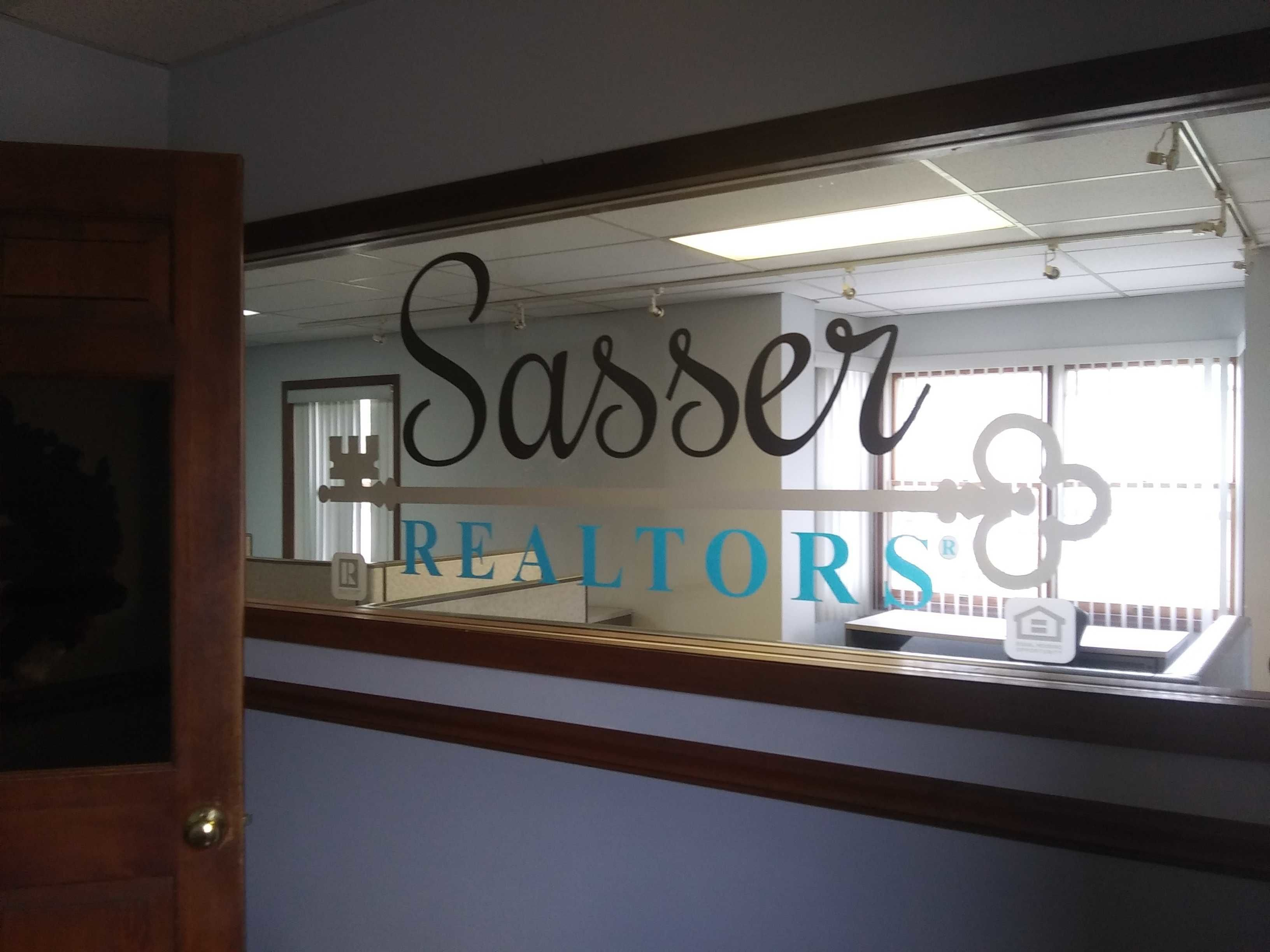 Window lettering for realtors office