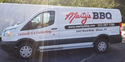 Vehicle Graphics - Marty's BBQ