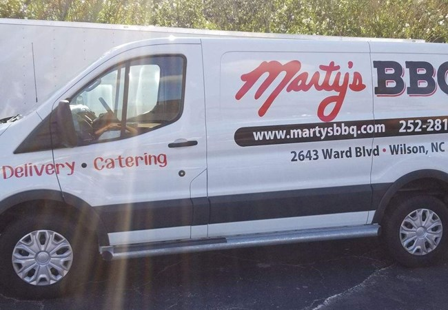 Marty''s BBQ | Vehicle Graphics & Lettering | Restaurants, Diners, Bars & Food Truck Signs | Wilson, NC