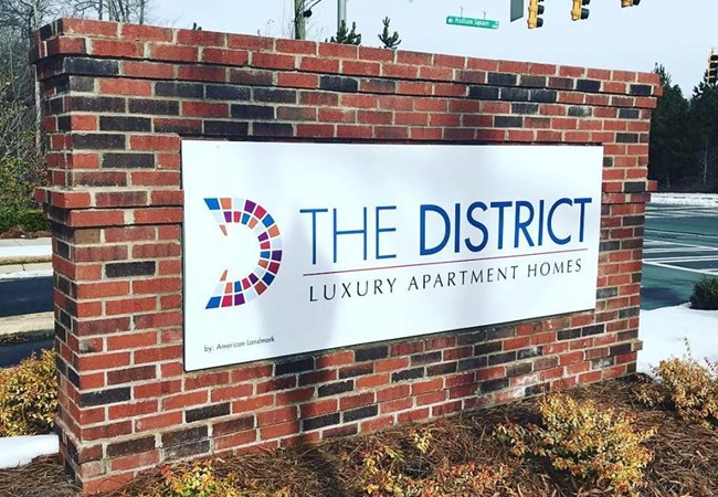 Monument Sign for District Luxury Apartment Homes | Property Management, Apartment, & Condo Signs