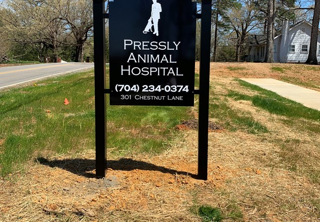 Post & Panel Signs | Charlotte Post and Panel Signs | Hospital & Medical Clinic Signs | Charlotte NC