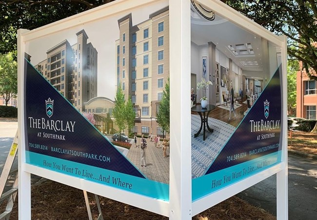 Charlotte Post and Panel Signs | Property Management, Apartment, & Condo Signs