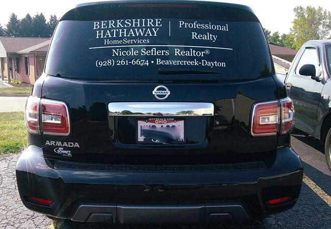 Vehicle Window Graphics | Partial Vehicle Wraps | Real Estate | Beavercreek, OH