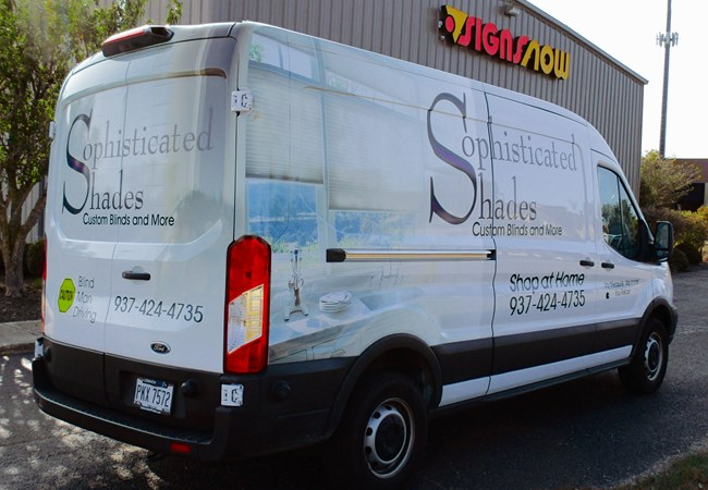 Sophisticated Shades| Full Vehicle Wraps | Truck & Trailer Wraps | Interior Design Firm Signs | Dayton, OH