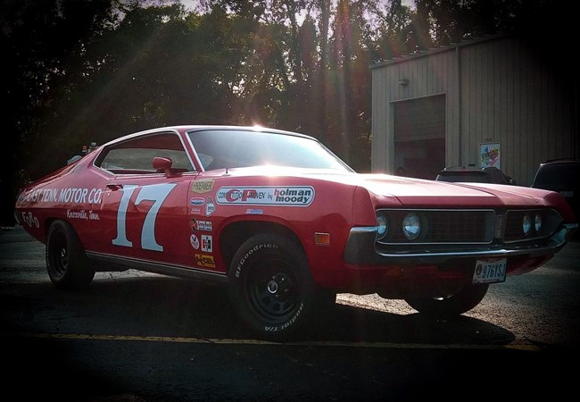 Ford Torino | Dave Pearson |Vintage Car | Stock Car | Partial Vehicle Wraps | Custom Graphics & Vinyl Decals | Auto Dealerships & Repair | Beavercreek OH