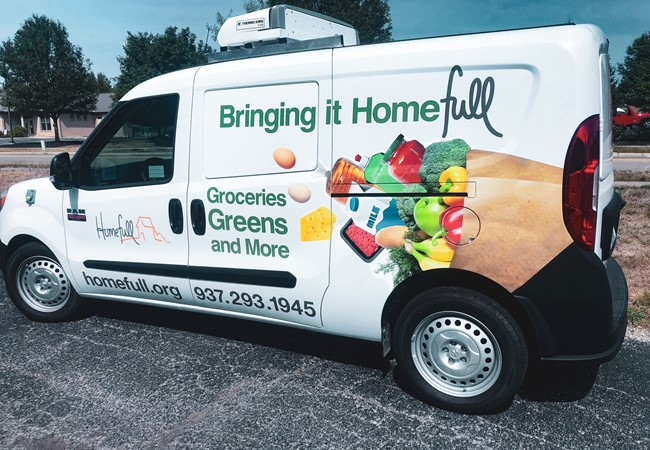 Homefull | Refrigerated Van Partial Vehicle Wraps | Truck & Trailer Wraps | Nonprofit Organizations and Associations Signs | Dayton, OH