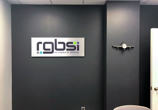 RGBSI | Brushed Polymetal | Standoff Signs | Custom Graphics & Vinyl Decals | Engineering & Architectural Signage | Beavercreek, OH