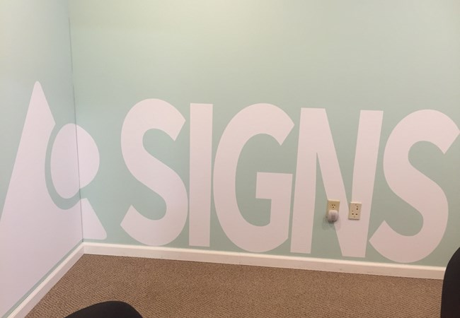 Wall Graphics and Murals | Vinyl Lettering | Interior Design Firm Signs | Beavercreek, OH