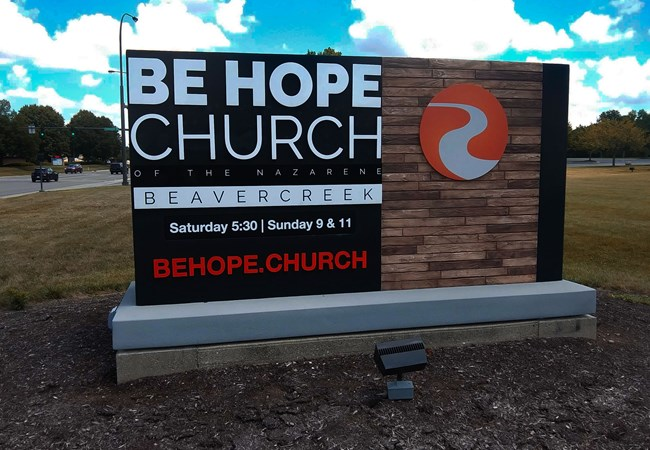 Relettering | Be Hope Church | Ground Signs | Exterior Signs | Churches & Religious Organizations | Beavercreek, OH
