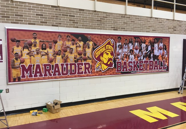 Indoor Banners | Vinyl Banners | Gym, Sports and Fitness Signs | Wilberforce, OH | Central State University | Central State | NCAA | Basketball | Gym
