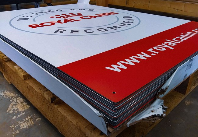 Royal Canin | Dog Food | Aluminum Signs | Corporate Branding Signs | Agricultural Signs
