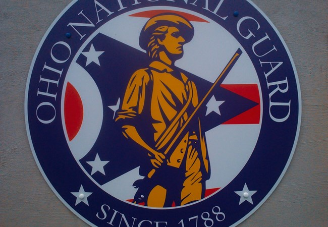 Ohio National Guard Armory | Shield | Aluminum Signs | Exterior Signs | Government and Municipal Signs | Kettering, OH