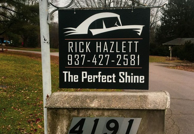 Polymetal Signs | Custom | The Perfect Shine | Aluminum Signs | Exterior Signs | Auto Dealership Signs | Dayton, OH
