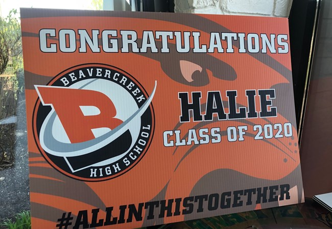 Graduation Signs | Plastic Signs & Yard Signs | Schools, Colleges & Universities | Beavercreek, OH