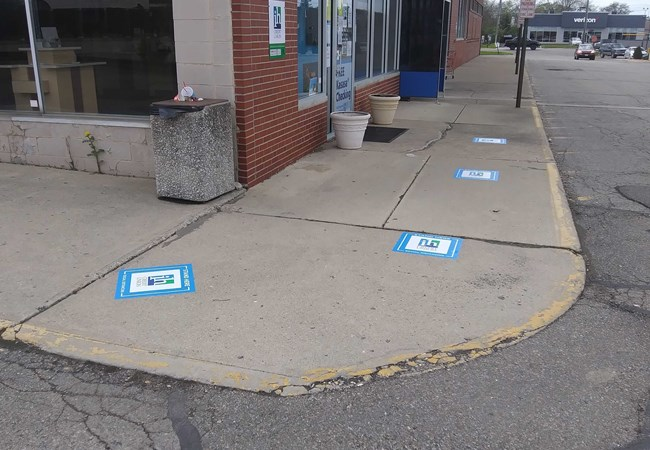 Social Distancing Signs | Exterior Floor Graphics | Floor Graphics | Banking & Financial Institution Signs | Dayton, OH