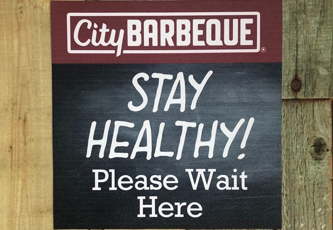 City Barbecue | Floor Graphics | Social Distancing Signs | Health and Hygiene Signs | Restaurants & Foodservice | Centerville, OH